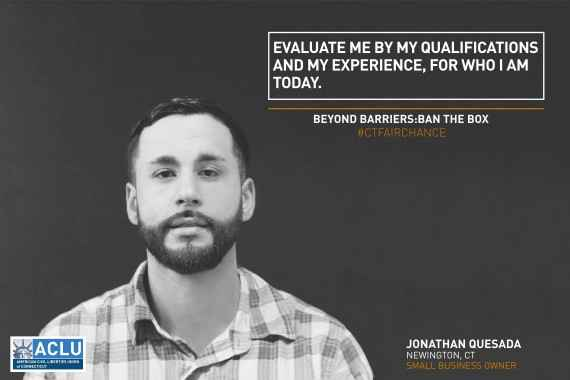 Portrait of Jonathan, advocate for fair chance employment act / ban the box Connecticut