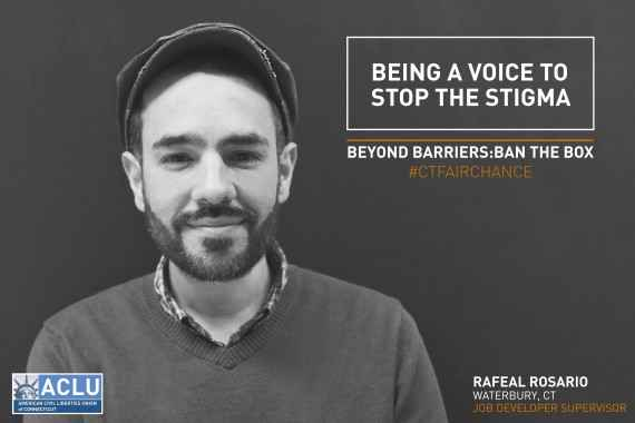 Portrait of Rafael, advocate for fair chance employment / ban the box in Connecticut