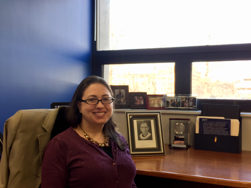 Kaley Lentini, legislative counsel for ACLU of Connecticut / ACLU-CT, in Hartford office