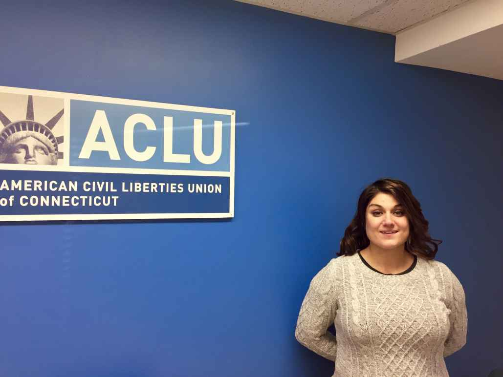 Sandy LoMonico, criminal justice organizer for the ACLU of Connecticut / ACLU-CT, in Hartford office