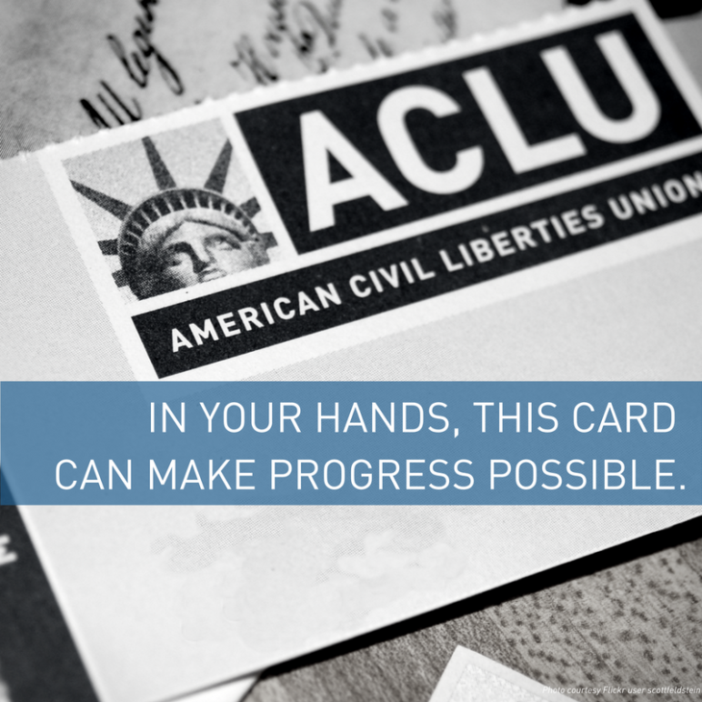 ACLU of Connecticut Membership Card Progress Possible